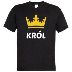 Męska koszulka V-neck Król - PrintSalon