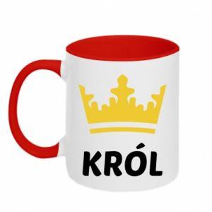 Kubek dwukolorowy Król - PrintSalon