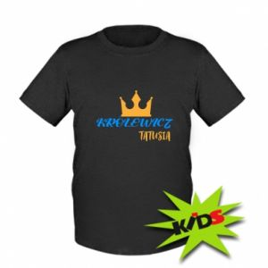 Kids T-shirt Prince daddy, for son