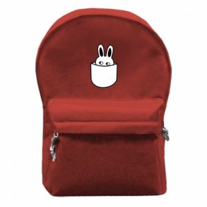 Backpack with front pocket Bunny in the pocket