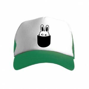 Kid's Trucker Hat Bunny in the pocket