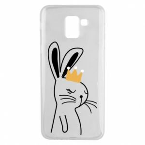 Samsung J6 Case Bunny in the crown