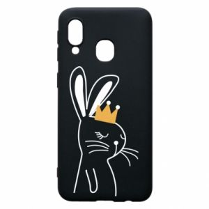 Samsung A40 Case Bunny in the crown