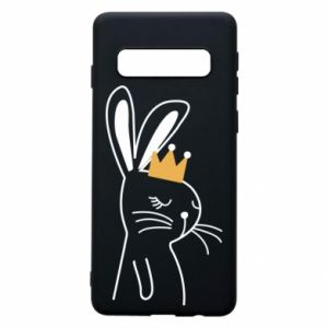 Samsung S10 Case Bunny in the crown