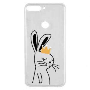 Huawei Y7 Prime 2018 Case Bunny in the crown