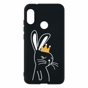 Mi A2 Lite Case Bunny in the crown