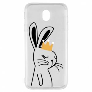 Samsung J7 2017 Case Bunny in the crown