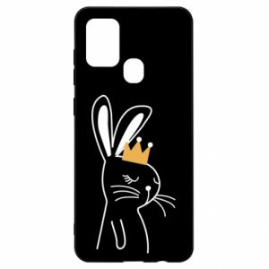 Samsung A21s Case Bunny in the crown