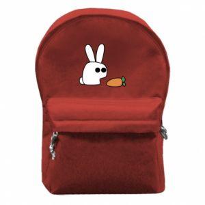 Plecak z przednią kieszenią Кróliczek z marchewką