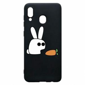 Etui na Samsung A20 Кróliczek z marchewką