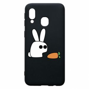 Phone case for Samsung A40 Bunny with carrot