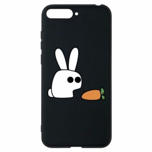 Phone case for Huawei Y6 2018 Bunny with carrot