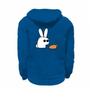 Kid's zipped hoodie % print% Bunny with carrot