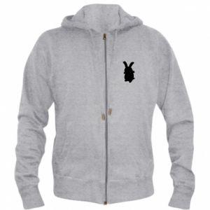 Men's zip up hoodie Smiling Bunny