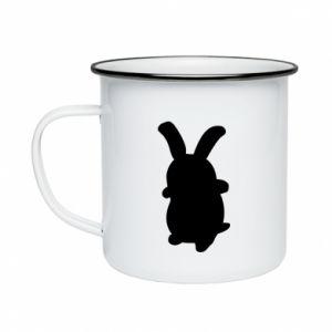 Enameled mug Smiling Bunny
