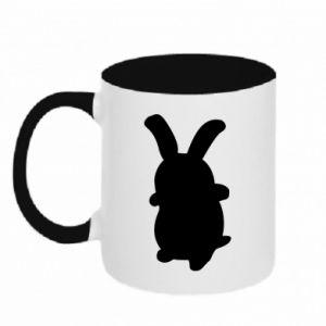 Two-toned mug Smiling Bunny