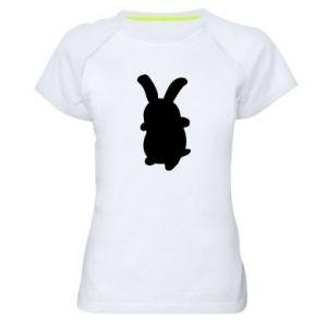 Women's sports t-shirt Smiling Bunny