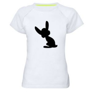 Women's sports t-shirt Shadow of a Bunny