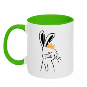 Two-toned mug Bunny in the crown