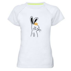 Women's sports t-shirt Bunny in the crown