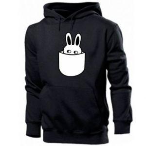 Men's hoodie Bunny in the pocket
