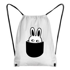 Backpack-bag Bunny in the pocket