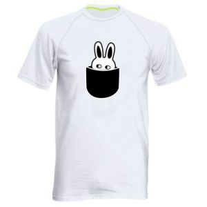 Men's sports t-shirt Bunny in the pocket