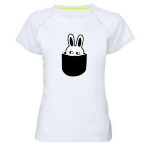 Women's sports t-shirt Bunny in the pocket