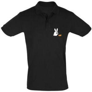 Men's Polo shirt Bunny with carrot
