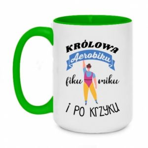 Two-toned mug 450ml The Queen of aerobics