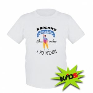 Kids T-shirt The Queen of aerobics