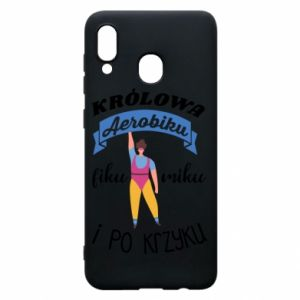 Phone case for Samsung A30 The Queen of aerobics