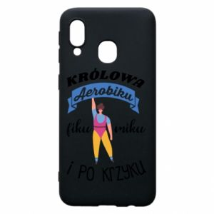 Phone case for Samsung A40 The Queen of aerobics