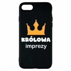 Phone case for iPhone 7 Queen of the party - PrintSalon