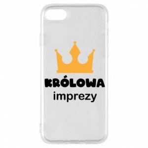 Phone case for iPhone 8 Queen of the party - PrintSalon