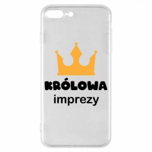 Phone case for iPhone 8 Plus Queen of the party - PrintSalon