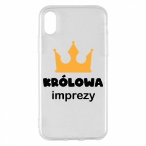 Phone case for iPhone X/Xs Queen of the party - PrintSalon