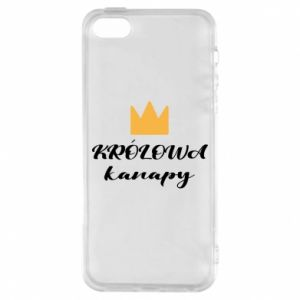 Phone case for iPhone 5/5S/SE The queen of the couch - PrintSalon