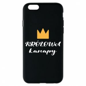 Phone case for iPhone 6/6S The queen of the couch - PrintSalon