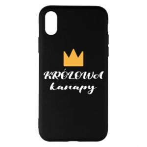 Phone case for iPhone X/Xs The queen of the couch - PrintSalon