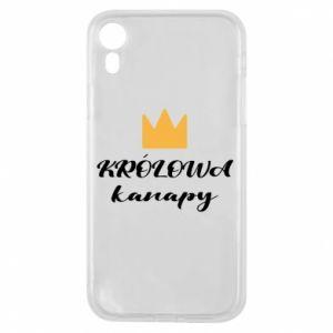 Etui na iPhone XR Królowa kanapy
