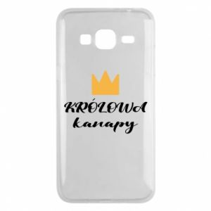 Phone case for Samsung J3 2016 The queen of the couch - PrintSalon