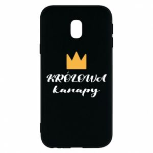 Phone case for Samsung J3 2017 The queen of the couch - PrintSalon