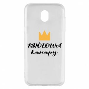Phone case for Samsung J5 2017 The queen of the couch - PrintSalon