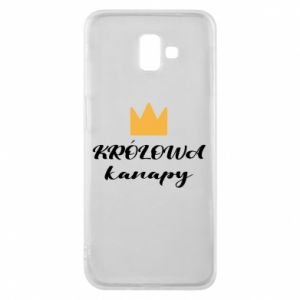 Phone case for Samsung J6 Plus 2018 The queen of the couch - PrintSalon