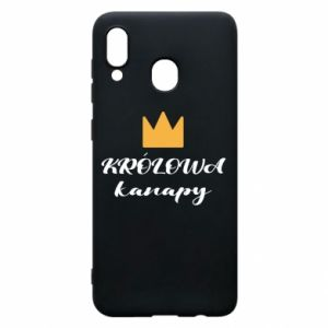 Phone case for Samsung A20 The queen of the couch - PrintSalon