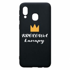 Phone case for Samsung A40 The queen of the couch - PrintSalon