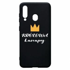Phone case for Samsung A60 The queen of the couch - PrintSalon