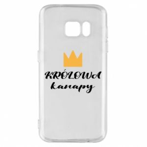 Phone case for Samsung S7 The queen of the couch - PrintSalon