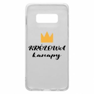 Phone case for Samsung S10e The queen of the couch - PrintSalon